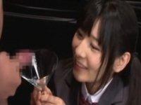 弘前亮子、大量のザーメンカクテルを飲み干す